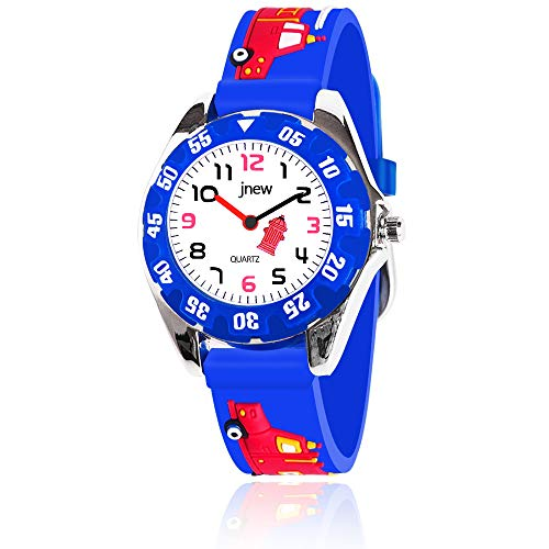 OuWen 3-12 Year Old Boys Gifts, Unique Design 3D Cute Cartoon Kids Waterproof Watch Hot Great Toys for 3-12 Year Old Boys Birthday Gifts for Boys Age 2-10 Blue OWUSWC04 ()