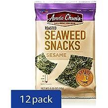 Annie Chun's Roasted Seaweed Snacks, Sesame, 0.35-ounce (Pack of 12), America's #1 Selling Seaweed Snacks