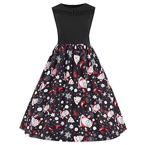 Halloween Dress for Women Plus Size, Baby Juniors Girls Halloween Costumes Clothing, Festival Evening Party Prom Sleeveless Dresses Gowns, Halloween Dresses A-Line with Pumpkins Printed for Women ()