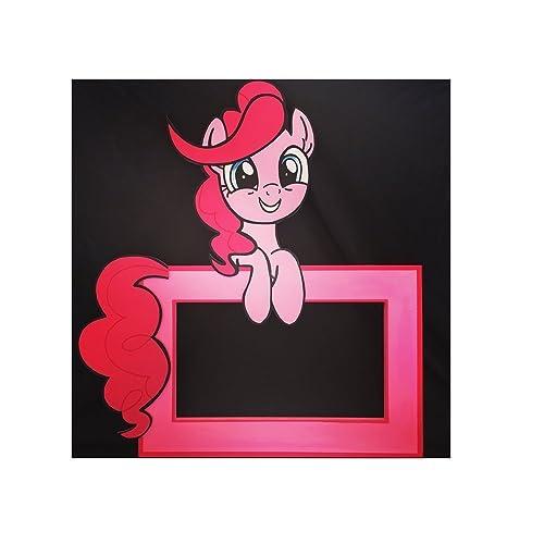 Pinkie Pie Photo Frame, Decorative Wall Art, Themed Photo Op Cutout, Wood My