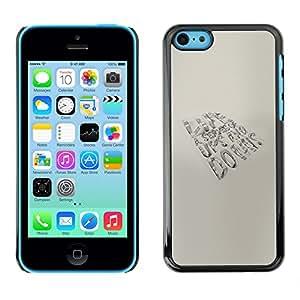 A-type Arte & diseño plástico duro Fundas Cover Cubre Hard Case Cover para iPhone 5C (Vida - altibajos)