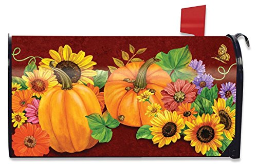 Briarwood Lane Fall Glory Floral Large Mailbox Cover Autumn Pumpkins Oversized by Briarwood Lane