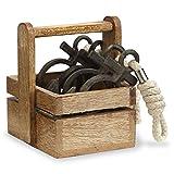 Mud Pie 4955015 Anchor Napkin Ring (Set of 5), Brown