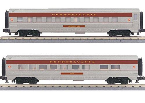 MTH MTH3067880 O-27 60' Streamline Sleeper/Diner, PRR 60' Sleeper