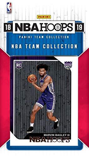 (Sacramento Kings 2018 2019 Hoops Basketball Factory Sealed 8 Card Team Set with Zach Randolph, De'Aaron Fox, Rookie Card of Marvin Bagley III Plus)