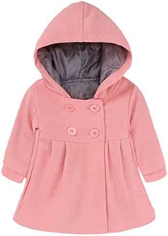 Lightweight Ruffer Bowknot O-Neck Thick Hooded Jacket Clothes WARMSHOP Winter Coats for Girls 1-5T