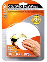 Allsop CD and DVD FastWipes, lint-free w...