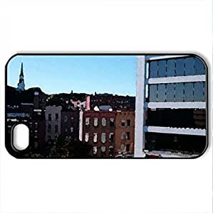Bangor, Maine - Case Cover for iPhone 4 and 4s (Watercolor style, Black)