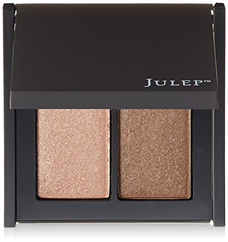 Sparkling Cats Eye - Julep Feels Like Velvet Eye Full-Coverage Eye Shadow Duo, Champagne/Caviar
