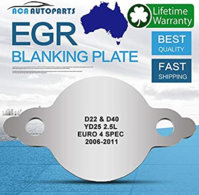 Blanking Plate EGR Valve Blanking Plate Fit for D40 YD25 Common Rail 2.5L Euro 4 06-11