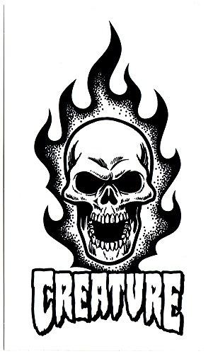 UPC 634145363050, Creature Creature Skateboad Sticker - Bonehead Skull - 17cm high approx. skate snow surf board bmx guitar ipad