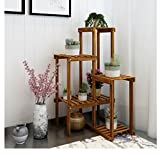 ZGP @Plant stand Solid Wood Flower Stand Living Room Balcony Corner Shelf Corner Multi-layer Corner Indoor Floor Shelf (Color : A)