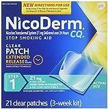 NicoDerm CQ STEP 1 - 3 Week Kit - 21 Clear Nicotine Patches