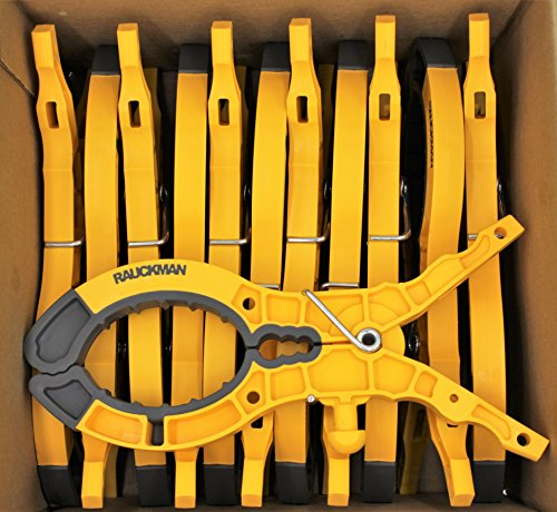 Blanket Clamp Pin, Yellow Nylon, Elastometric Tips - 12 Pack by Rauckman Utility Prodcuts (Image #3)