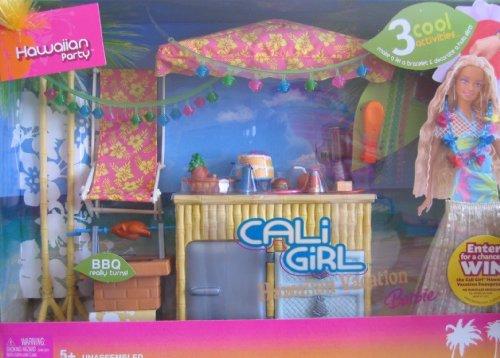 Barbie Cali Girl - Barbie Cali Girl HAWAIIAN VACATION PARTY Playset w 3 Activities & MORE! (2005)