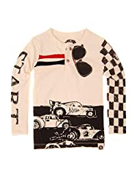 Mini Shatsu Checker Racers Baby Henley Shirt