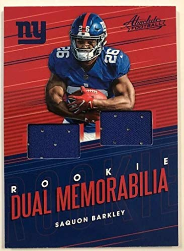 2018 Absolute Rookie Dual Memorabilia #7 Saquon Barkley MEM NY Giants from Absolute