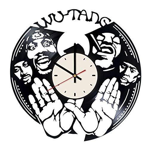 Rap Vinyl Wall Clock Hip Hop Unique Gifts Living Room Home ()