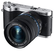 """Samsung NX300 20.3MP CMOS Smart WiFi Mirrorless Digital Camera with 18-55mm Lens and 3.3"""" AMOLED Touch Screen (Black)"""