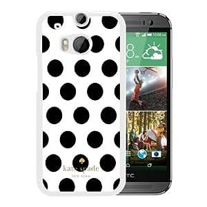 Unique Designed Kate Spade Cover Case For HTC ONE M8 White Phone Case 8