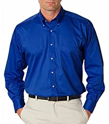 Van Heusen V0521 Mens Long-Sleeve Dress Twill - Royal Blue, Medium