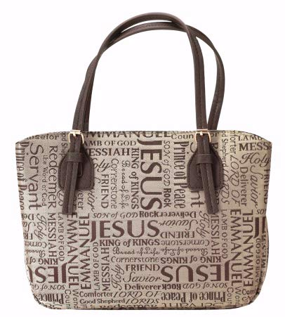 (Brown Purse Fashion Jacquard Fabric Bible Cover Case with Handle, X-Large)