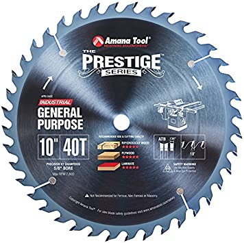 "Amana AGE 18/"" 120 Tooth Aluminum Cutting /& Non Ferrous Metal Cutting Saw Blade"