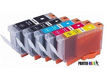 Amazon.com : Printer-Mate Replacement 5 Pack Edible Ink PGI-225 BK ...