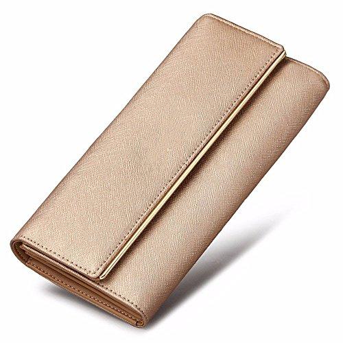2018 neue damen brieftasche, lange kupplung tasche, in europa und in den vereinigten staaten mit großer kapazität brieftasche leder,goldene goldene