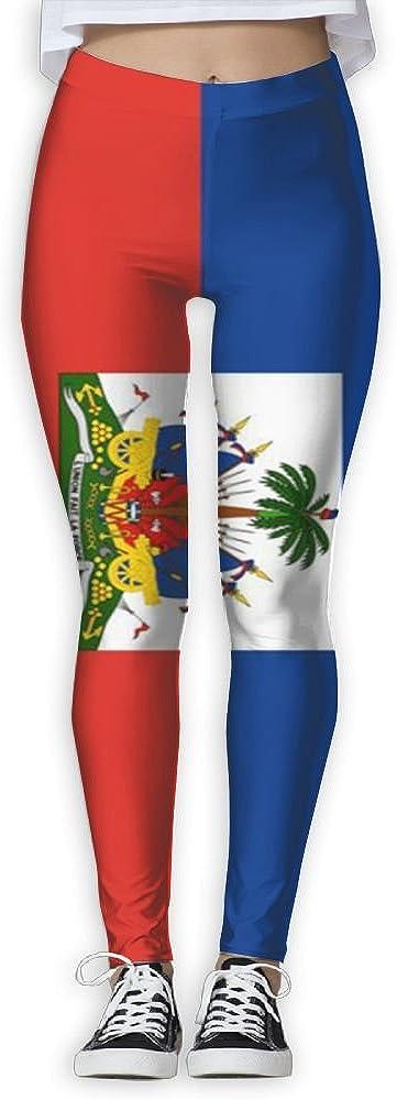 HAIRUIYD Yoga Pants Haiti Flag Women's Athletic Workout Gym Running Fitness Leggings Caparis