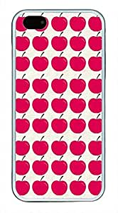 Cute Red Apple Pattern Theme Iphone 6 plus 5.5 Case TPU Material