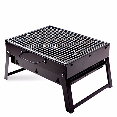 HITSAN Hewolf Portable Barbecue Grill Folding Picnic BBQ Rack Stand One Piece by HITSAN