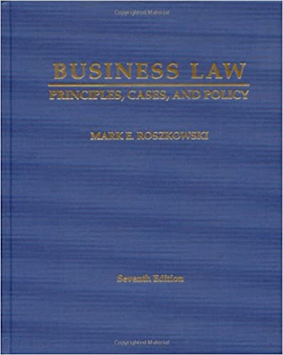 Business Law: Principles, Cases And Policy Book Pdf