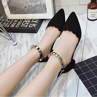 Women's Black Mary Casual Jane Winter Heel PU LvYuan Boots ggx Chunky 5xHgPff