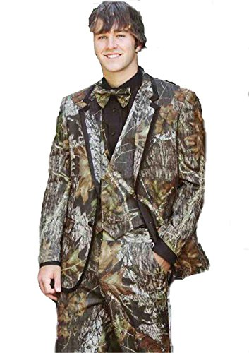 Realtree Camo Wedding Tuxedos Farm Wedding Camouflage Suit Fashion Groom Wear Slim Fit Mens Blazers by Brightmenyouth