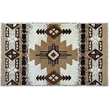 Concord Global Trading South West Native American Area Rug Design C318 Ivory (24 Inch X 40 Inch)