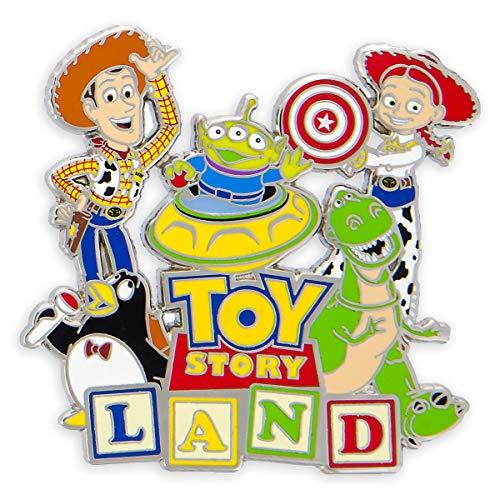 (Disney Parks Toy Story Land Logo Pin - Woody Jessie Wheezy Alien Rex)