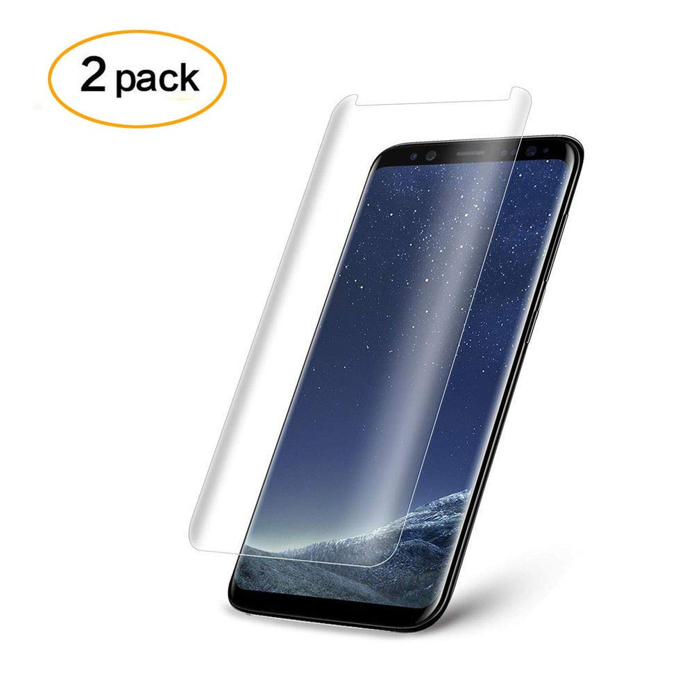 DeFitch [2 PACK] Galaxy S8 Tempered Glass Screen Protector, PREMIUM Strengthened Clear Anti-Bubble Scratch Proof for Samsung Galaxy S8 [Case Friendly]