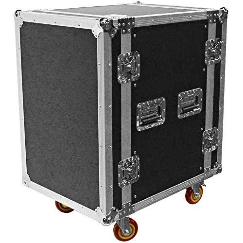 Seismic Audio - SATAC16U - Heavy Duty 16 Space ATA Rack Case with 4 Inch Casters - Pro Audio DJ Rack - 16U Server Network Case (Equipment For Rack Dj)