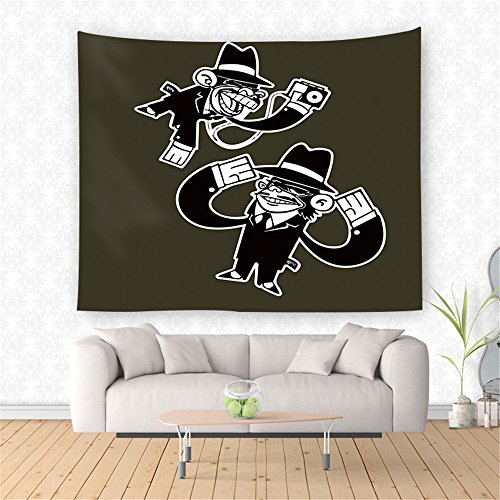 AdoraTapestry Tapestry Tapestries Wall hangings Hand Towels Long-Armed Monkey 150x130cm -