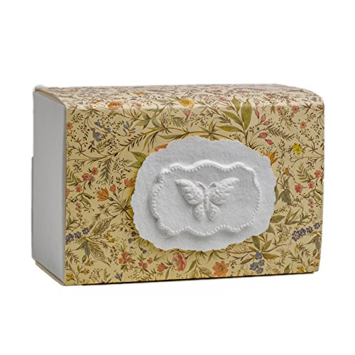 The FAVORITE PLACE Burial Urn Box, (Large Butterfly Urn Box), Biodegradable for Ground Burial, Scattering Cremated Ashes in Earth Friendly Eco Urn, Adult Size (Large, Florentine (Eco Flower)