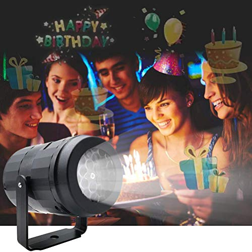 Christmas Projector Lights for Indoor, Rotating Snowflake LED Christmas Light with 7 Multicoloured Switchable Slides for Graduation Prom, Holiday, Halloween, Birthday, Valentine