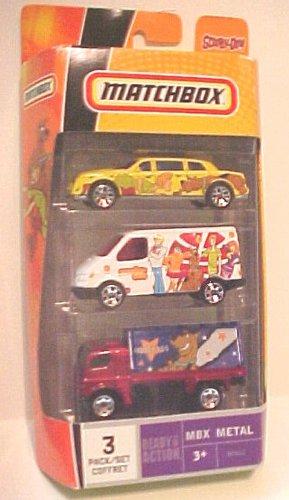Scooby Doo Matchbox - Matchbox MBX Metal Scooby Doo 3 Car Pack