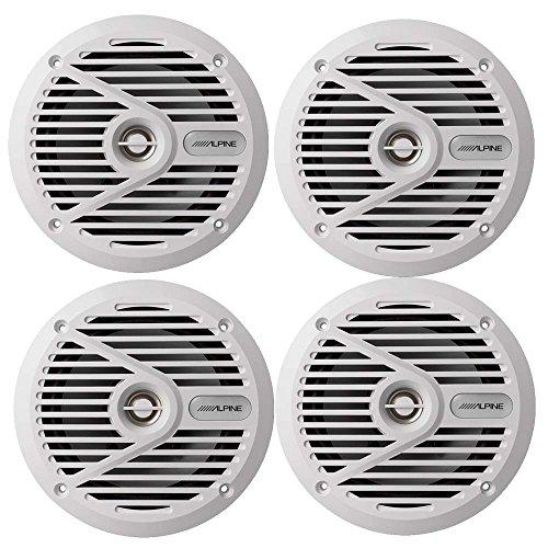 "Alpine SPS-M601W 6-1/2"" Marine Coaxial 2-Way Marine Speaker (Alpine Marine Speakers)"