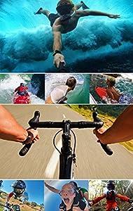 Tekcam Basic 11-in-1 Accessories Combo Bundle Kits for Riorand/DBPOWER/Lightdow/GeekPro/ ASX ActionPro Waterproof Action Sports Outdoor Camera