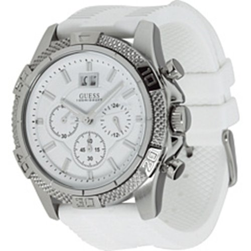 GUESS-Mens-Boldly-Detailed-Sport-Chronograph-Watch-Silver