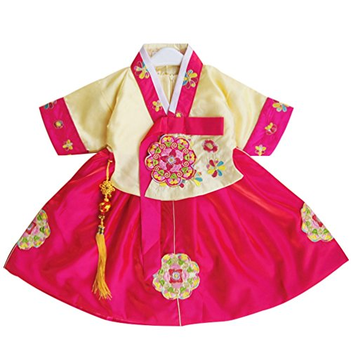 (CRB Fashion Little Girls Toddler Korean Cultural Traditional Hanbok Outfit Dress Costume (2 to 3 Years Old, Style)