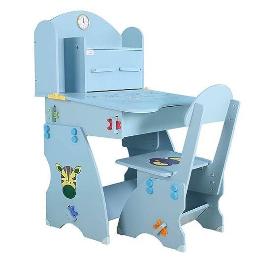 LYATW Presidente preciosa Estudio niños Desk Set, Set de altura ...