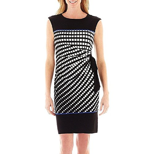 Woman's R&K Originals Side-Tie Square Print Sheath for sale  Delivered anywhere in USA