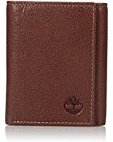 Timberland Men's Genuine Leather RFID Blocking Trifold Security Wallet, Brown, One Size